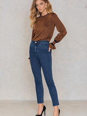 NA-KD Highwaist Skinny Jeans blå