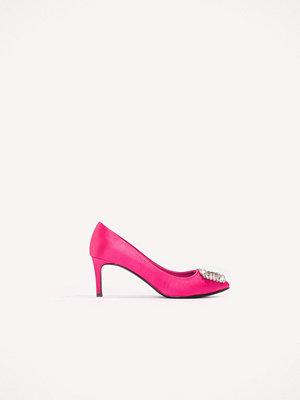 NA-KD Shoes Embellished Mid Heel Satin Pumps - Högklackat
