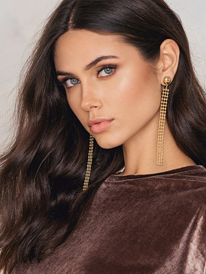 NA-KD Accessories smycke Structured Chain Drop Earrings