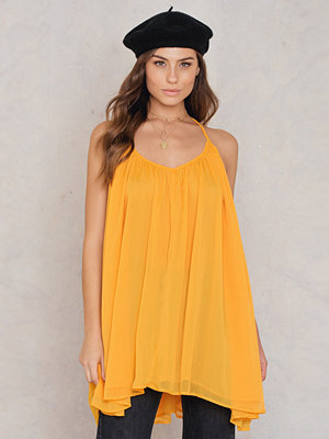 NA-KD Boho Thin Strap Chiffon Dress - Festklänningar