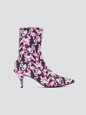 NA-KD Shoes Kitten Heel Sock Boot multicolor