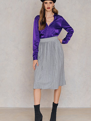 Rut & Circle Pleated Skirt grå