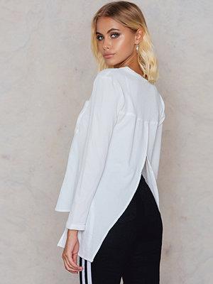 Rut & Circle Amelie pocket blouse vit