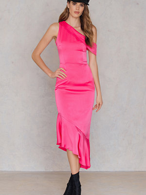 Lavish Alice Asymmetric Satin Dress