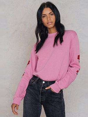 NA-KD Trend Rose Embroidery Sleeve Sweater