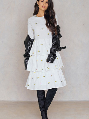 English Factory Embroidered Ruffle Dress