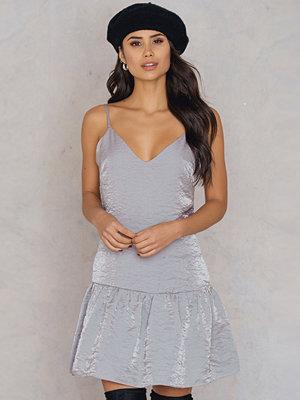 Glamorous Shimmer Frill Dress silver