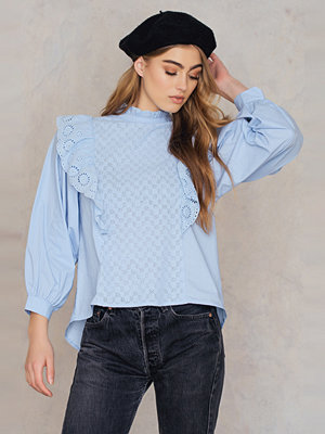 Endless Rose Wide Sleeved Ruffled Blouse