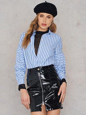 Rebecca Stella Patent Zipper Skirt