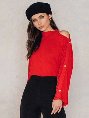 Trendyol Frill Button Sleeve Top