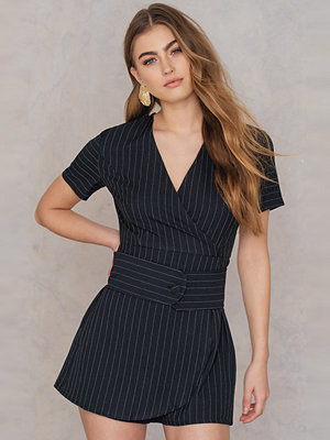Jumpsuits & playsuits - Trendyol Striped Overlap Playsuit