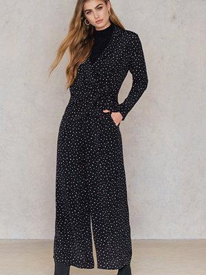 Saint Tropez svarta byxor med tryck Irregular Print Pants