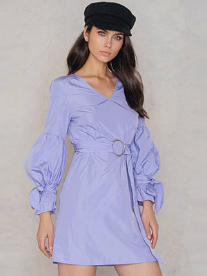 SheIn Tie Sleeve Belt Dress