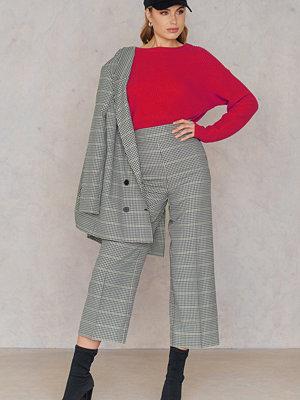 Just Female grå randiga byxor Holmes Pants