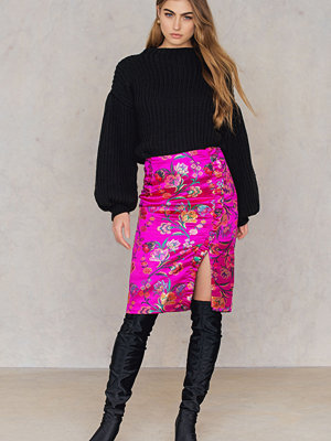 Glamorous Floral Slit Skirt