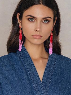 NA-KD Accessories örhängen Coloured Beads Tassel Earrings
