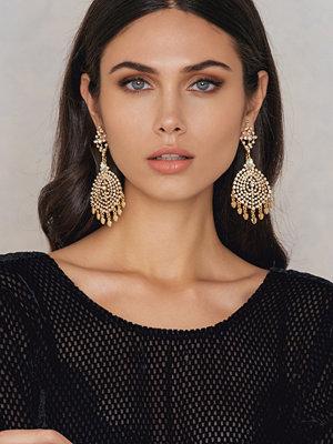NA-KD Accessories örhängen Oversized Rhinestone Stud Earrings
