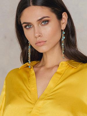 NA-KD Accessories smycke Coloured Chain Earrings