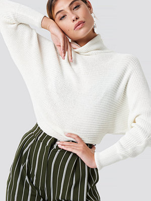 Tröjor - NA-KD Folded Knitted Sweater vit
