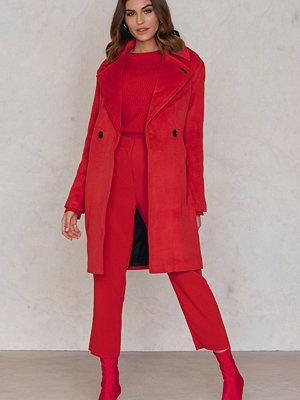 Neon Rose Cocoon Wool Coat