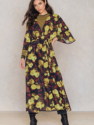 NA-KD Boho Chiffon Coat Dress multicolor