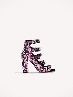 Pumps & klackskor - NA-KD Shoes Multi Buckle High Heels rosa multicolor