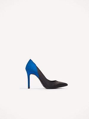 NA-KD Shoes Block Color Satin Pumps svart blå