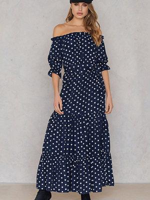 SheIn Off Shoulder Ruffle Maxi Dress