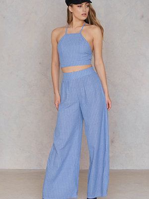 SheIn Pinstriped Cami And Pants Set