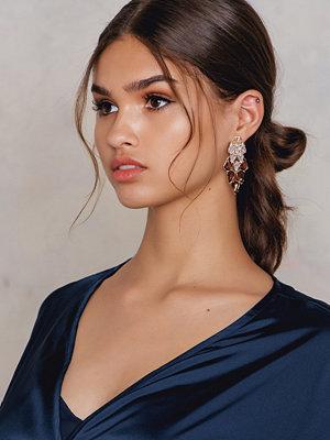 Tranloev örhängen Multiromb Rhinestone Earrings
