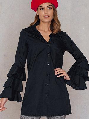 Boohoo Ruffle Sleeve Shirt Dress - Skjortor