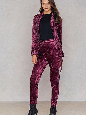 True Decadence Velvet Skinny Pants - Byxor omönstrade