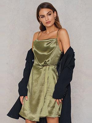 NA-KD Party Metallic Cowl Neck Dress
