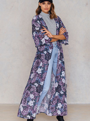 NA-KD Boho Chiffon Coat Dress lila