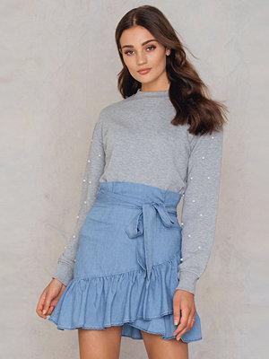 SheIn Overlap Ruffle Skirt