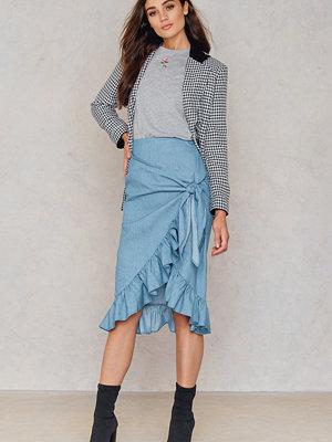 SheIn Overlap Ruffle Knot Skirt