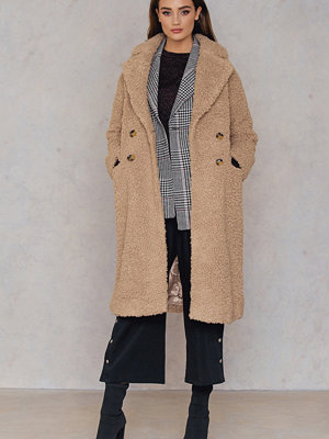 Neon Rose Shearling Crombie Jacket