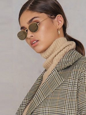 NA-KD Accessories Oval Metal Sunglasses