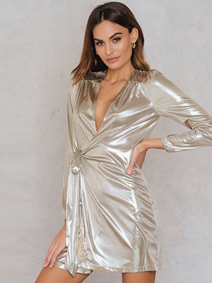 Glamorous Overlap Metallic Dress