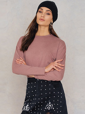 NA-KD Basic Long Sleeve Basic Top rosa