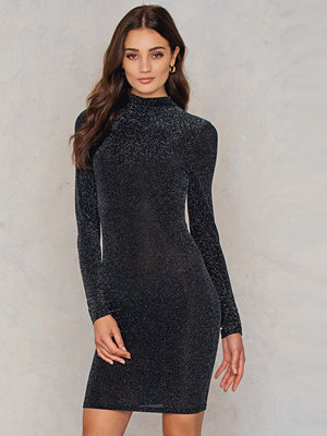 NA-KD Party Turtleneck Glittery Dress