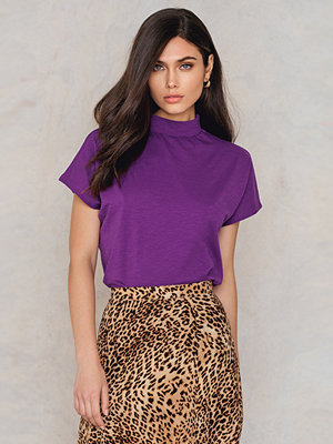 Toppar - NA-KD Trend High Neck Cap Sleeve Top