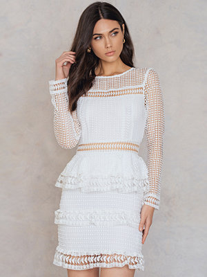 Endless Rose Trimmed Tiered Lace Dress