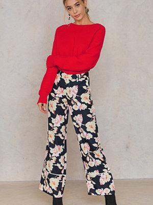 Liquorish mönstrade byxor Floral Print Pants