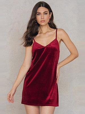 Rebecca Stella Velvet Short Slip Dress