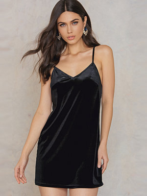Rebecca Stella Velvet Short Slip Dress