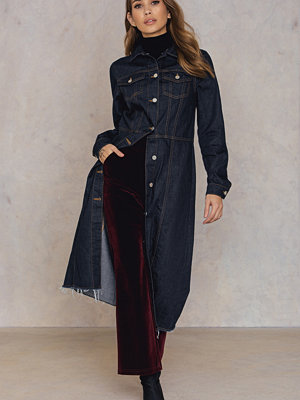 NA-KD Button Up Denim Coat blå