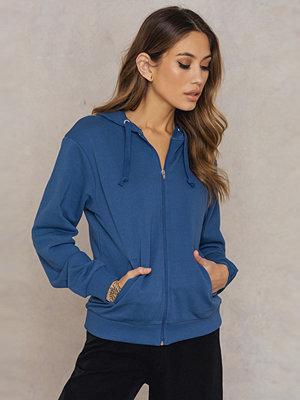 NA-KD Basic Basic Zipped Hoodie blå