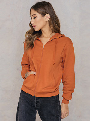 NA-KD Basic Basic Zipped Hoodie orange
