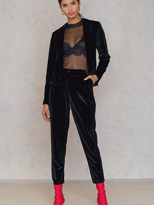 Rut & Circle Adina velvet pant - Kostymbyxor svarta